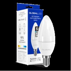 LED лампа GLOBAL C37 CL-F 5W яркий свет 220V E14 (1-GBL-134-02)